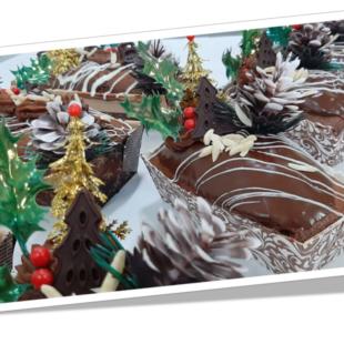 Cake de Chocolate natalício com Ferrero Rocher