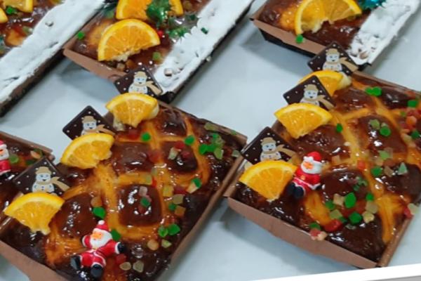 Cake natalício com fruta